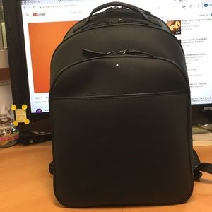 Mont-Blanc leather backpack